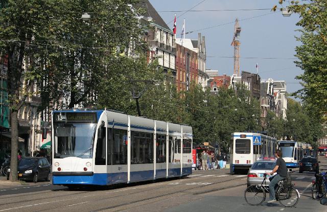 Gastos com transporte público em Amsterdã