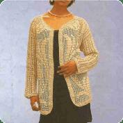 Chaqueta con campanillas a Crochet