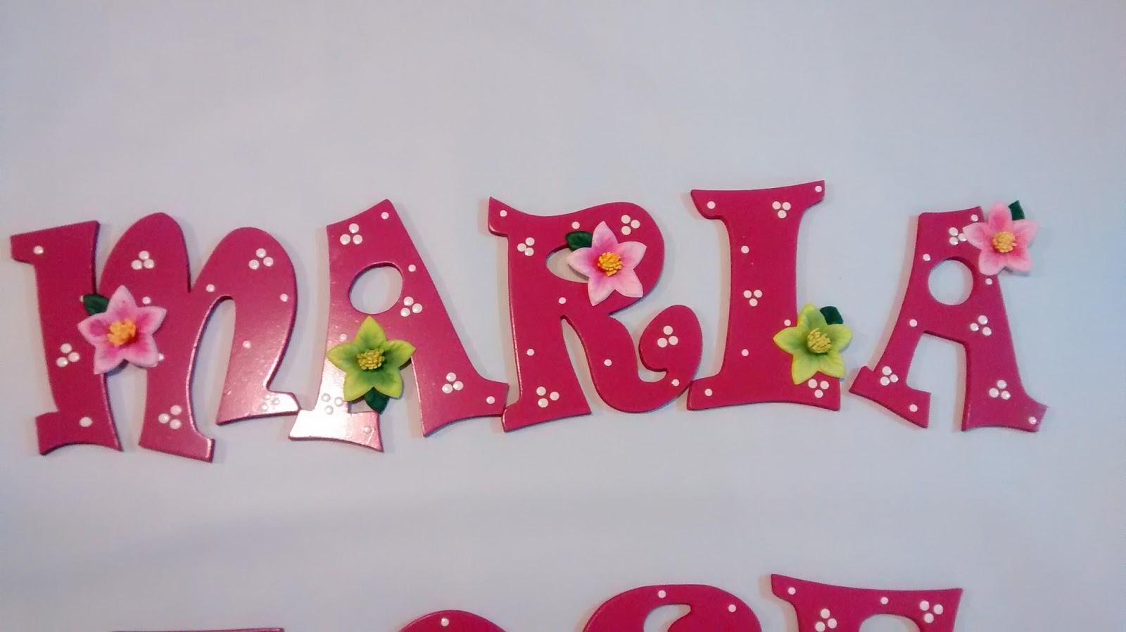 Galeria arte y dise o madekids letras en mdf - Letras decoradas infantiles ...