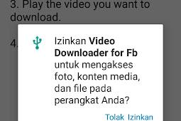 2 Cara Menyimpan Video dari Facebook ke Galeri di HP Android