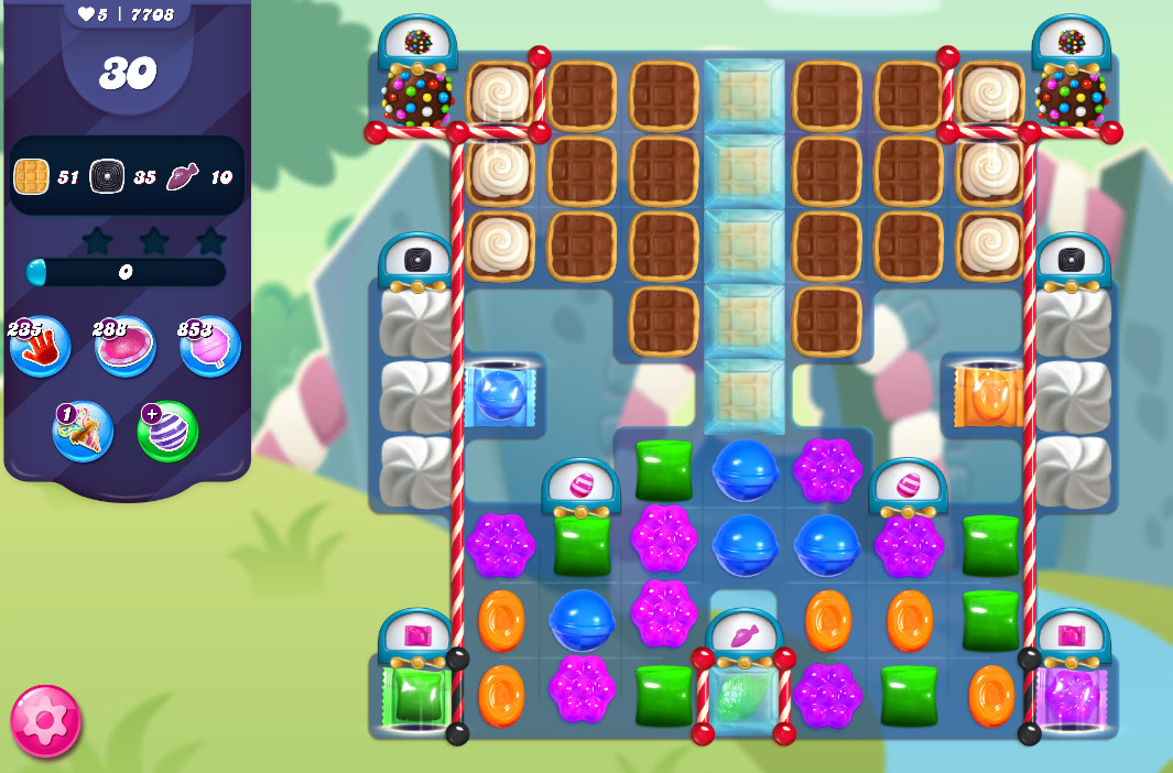 Candy Crush Saga level 7708