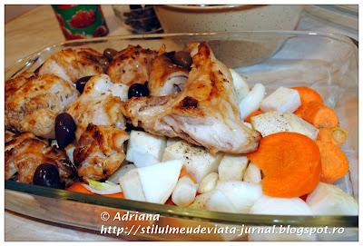 friptura de iepure cu legume si masline