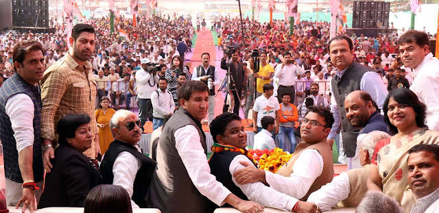 Mass group of people in 'Power Conversion Rally' organized by Congress Party in Ballabhgarh