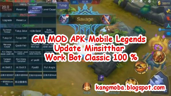 GM MOD APK Mobile Legends Update Minsitthar Work Bot Classic