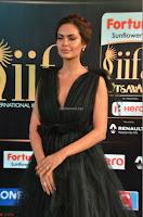 Esha Gupta in a Deep Neck Sleeveless Dark Green Gown at IIFA Utsavam Awards 2017     10.JPG