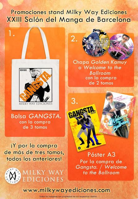 Milky Way Ediciones y sus promociones en el Salón del Manga de Barcelona.