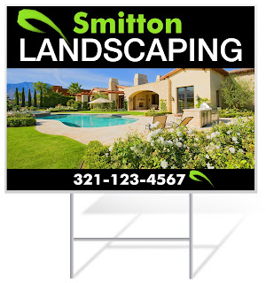 Landscaping Lawn Sign Sample | Lawnsigns.com