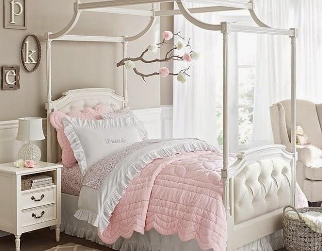 Dormitorios de ni as en rosa y gris colores en casa - Alfombra habitacion nina ...
