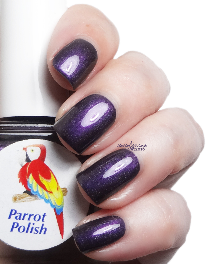 ox's swatch of  Parrot Polish~Magneto