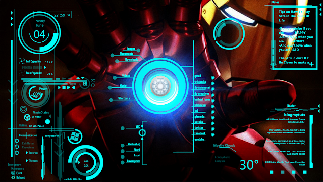 Make Your Own 3d Name Wallpaper Jarvis From Iron Man Rainmeter Theme Windows 7 8 8 1