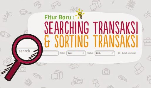 Searching Transaksi dan Sorting Transaksi Fitur Teranyar di Bukalapak
