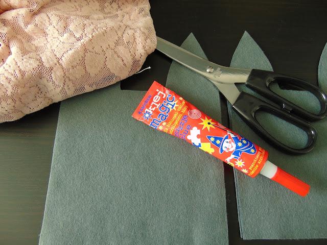jak zrobić woreczki na cukierki z filcu