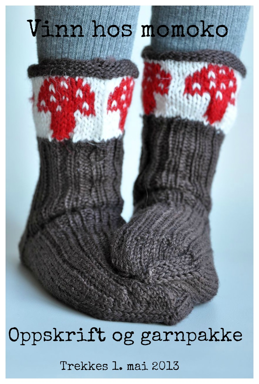 d5074a37 Fluesopp-sokker: vinn oppskrift og garnpakke (NB! Blogglotteriet er nå  ferdig.)