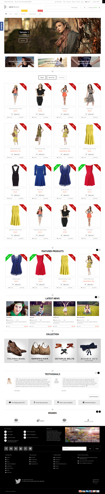 eCommerce Website Theme