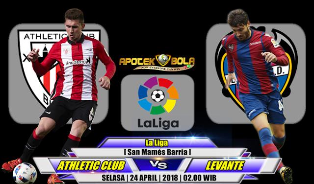 Prediksi Athletic Bilbao vs Levante 24 April 2018