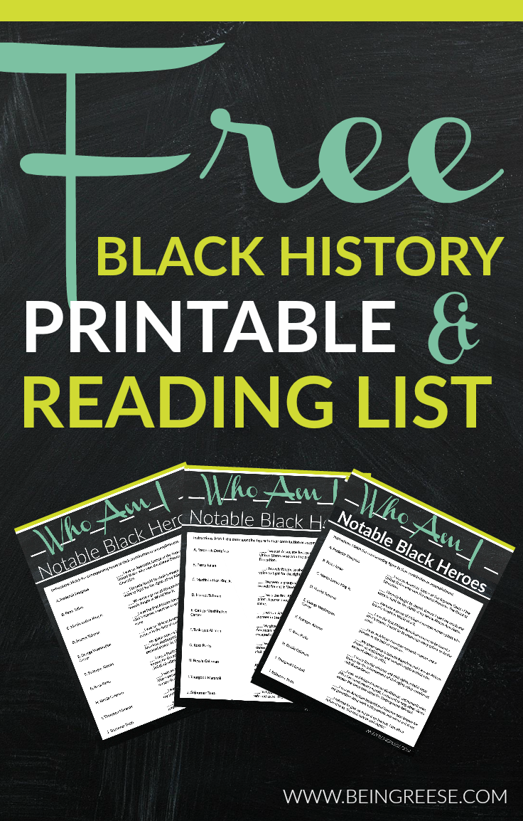 Free Black History Month Worksheet A Reading List – Black History Month Worksheets