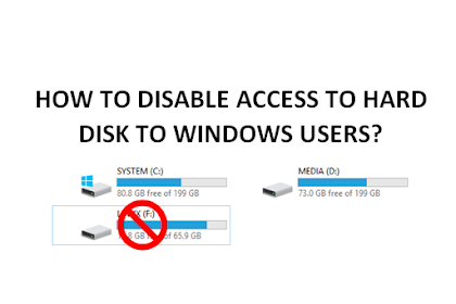How to disable access to hard disk to Windows users?