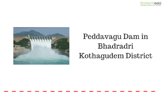 Peddavagu Dam in Bhadcradri Kothagudem District in Telangana