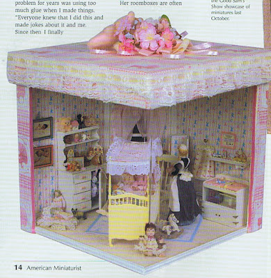 dollhouse miniature nursery
