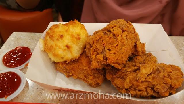 set chicken fortune di texas chicken, honet butter biscuit texas chicken, texas chicken kini di 1st avenue penang,