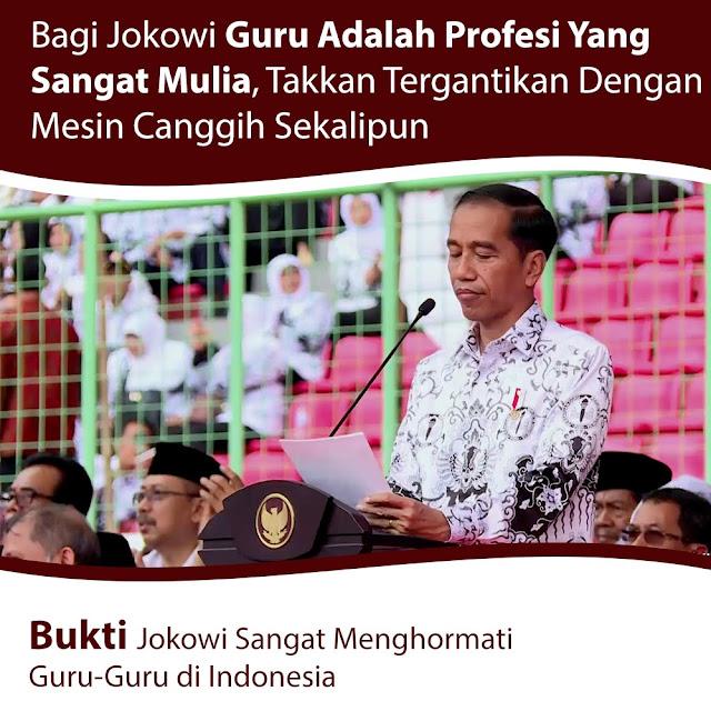 Jokowi: Guru Tak Akan Tergantikan dengan Mesin Secanggih Apa pun