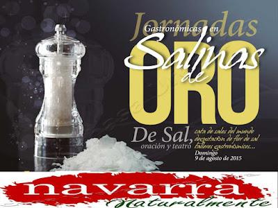 Programa  de Las Jornadas Gastronómicas de la Sal de Salinas de Oro en Navarra Naturalmente