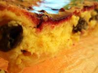 tarta de requesón y pasas