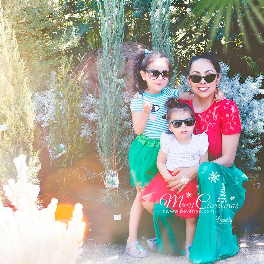 Combinación Verde y Rojo Navidad Madre e Hijas