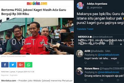 Jokowi Kaget Masih Ada Guru Bergaji 300Ribu, Warganet Berikan Komentar Pedas