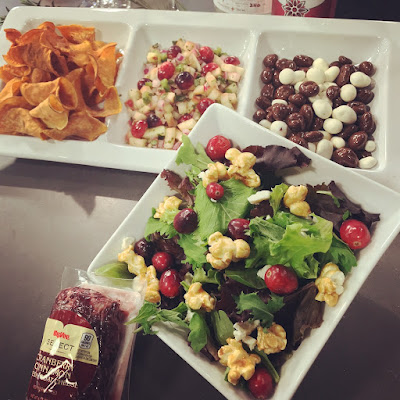 Cranberry and Popcorn Salad