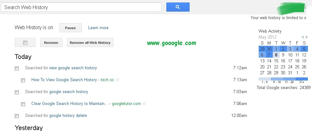 How To View Google Search History