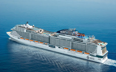 MSC Cruises takes delivery of the MSC Meraviglia built by STX France.