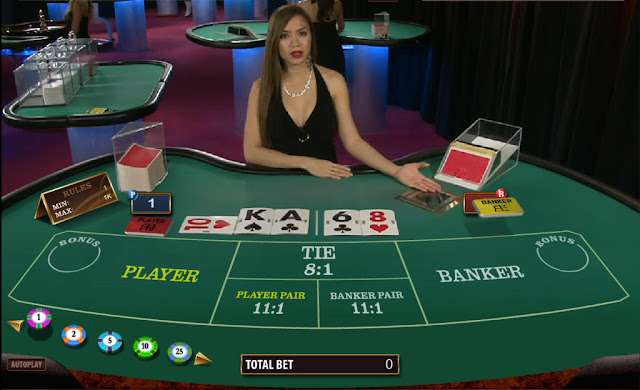 Baccarat online game with real dealer