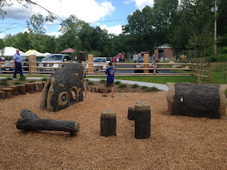 Nature themed playground in Riverfront Park, Erving, MA