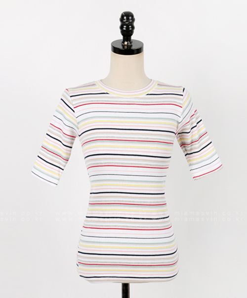 Striped Tight Fit T-Shirt