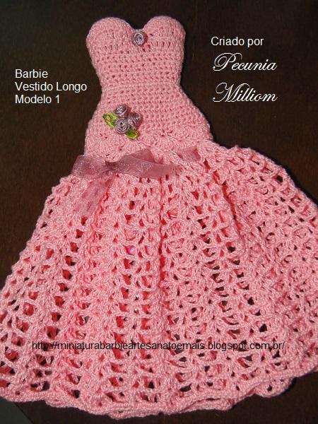 Em Breve!  Meu Primeiro Tutorial Em Vídeo  Vestido de Festa de Croche Para Boneca 4