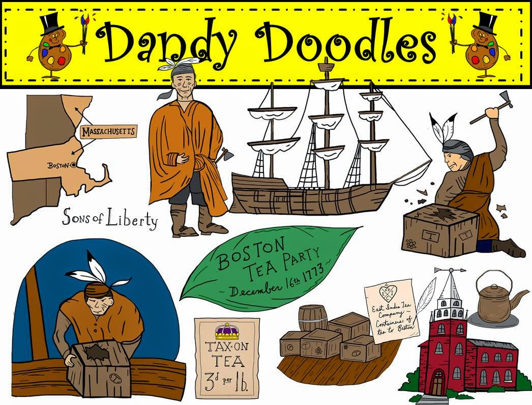 http://www.teacherspayteachers.com/Product/Boston-Tea-Party-Clip-Art-by-Dandy-Doodles-1517949