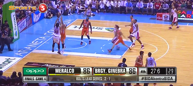 Joe Devance Hits Game-Winner in Game 4 vs Meralco (VIDEO)