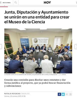 Museo de la Ciencia y la Tecnología en Badajoz. V. Arnelas
