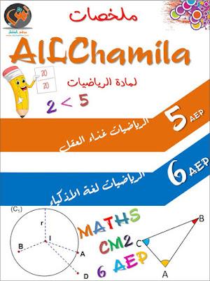ملخصات المستوى الخامس  و السادس مادة الرياضيات