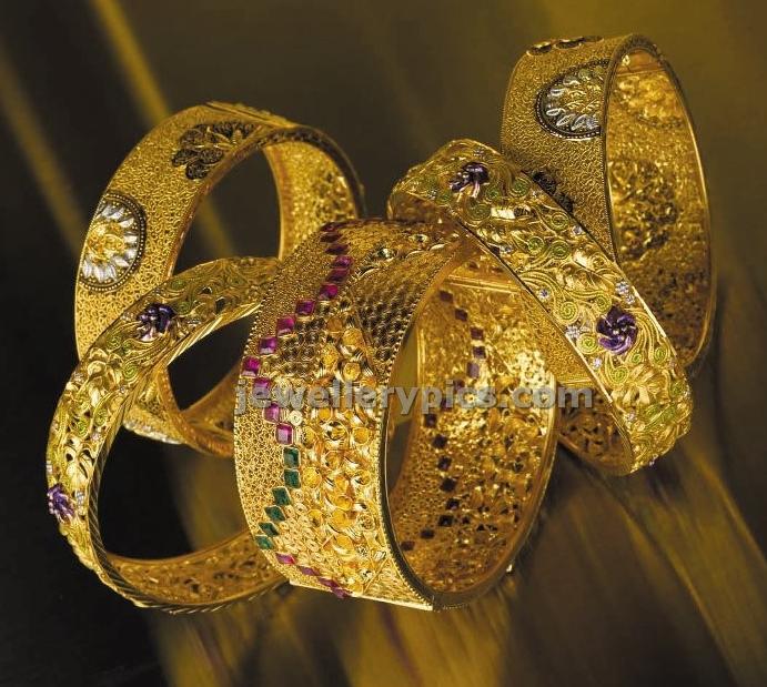 Bhima Jewels Gold Bangle Models Latest Jewellery Designs
