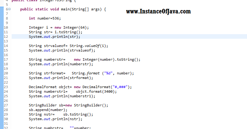 how to change integer to string