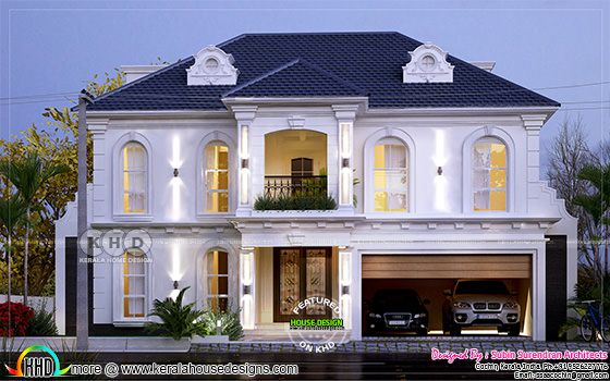Western style 4 bedroom home plan