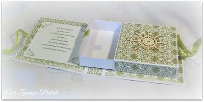 Pudełko Wesołych świąt - z szufladą