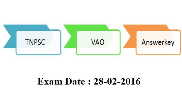 tnpsc vao exam 28-02-2016 answerkey