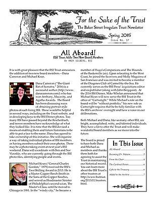 BSI Trust Spring 2016 Newsletter
