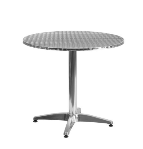 Flash Furniture TLH-052-3-GG Round Aluminum Indoor Outdoor Table with Base