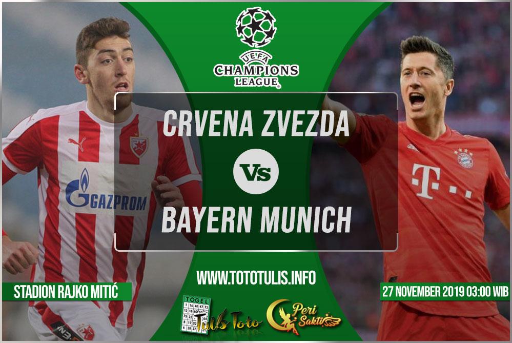 Prediksi Crvena Zvezda vs Bayern Munich 27 November 2019