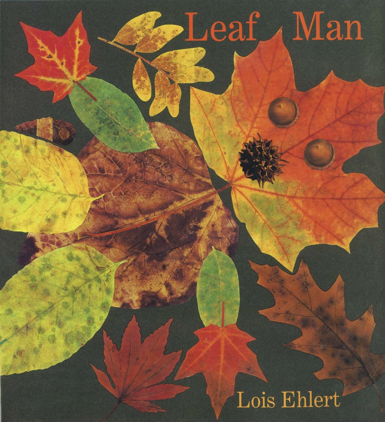 Leaf Man, part of children's book review list about fall