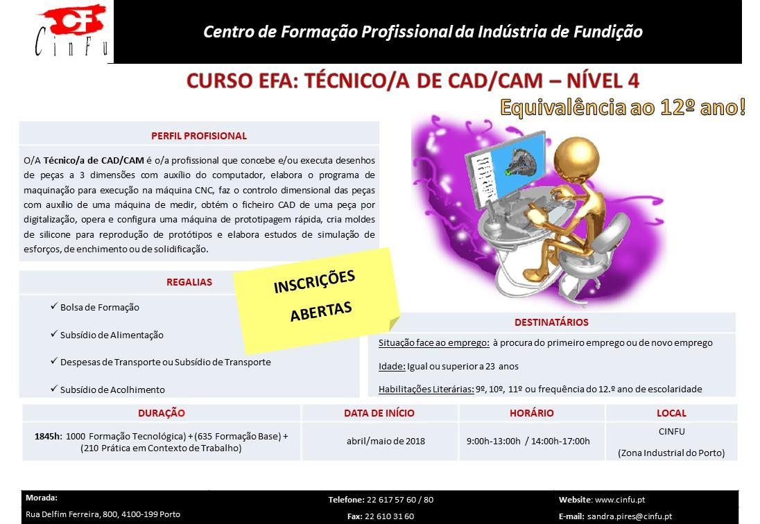 Curso efa remunerado – Técnico de CAD/CAM – Porto